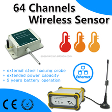 64 Channels Wireless Sensor tem guard tour monitoring system humidity controller humidity sensor data logger
