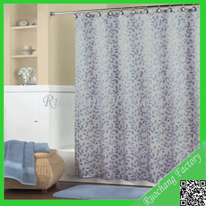High Quality Hooless Double Swag Shower Curtain