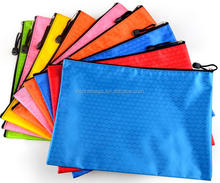 Accept customized a4 zipper lock travel document holder