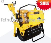 SALE!!! gasoline engine 5HP, hydraulic single drum vibratory road roller FHR-600 with CE