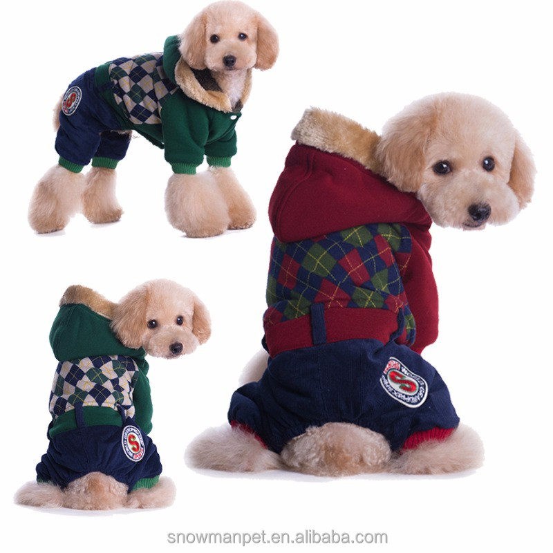 Cheap Lovable Simply Autumn Winter Dog Sweater Dog Clothes with hat