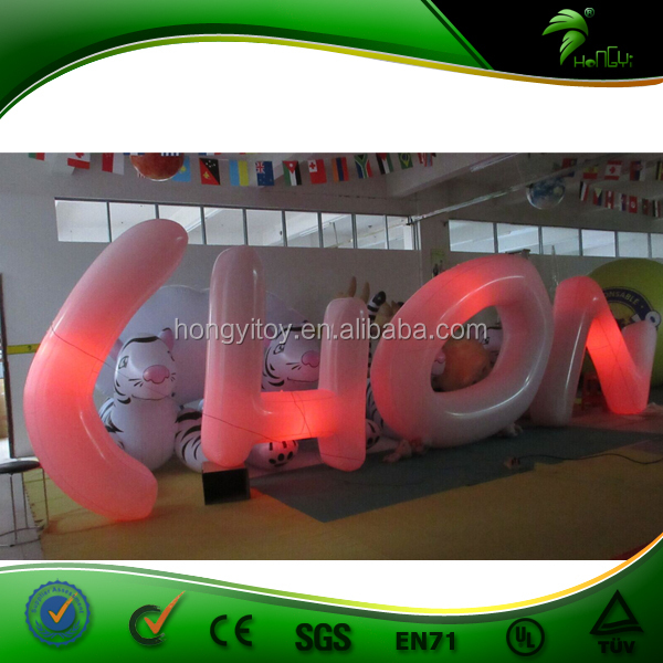 Giant LED Ball Inflatable Light Letters CHON Decoration For Advertising