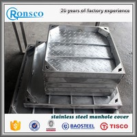 En124 Dia 600mm D400 stainless steel ductile iron manhole cover