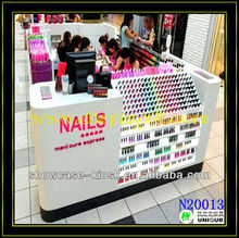6x3m Nail salon furniture nail bar with manicure tables design kiosk made in china