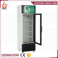 Wiberda Vertical single glass door soft drink freezer showcase/Beverage cooler