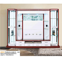 Showcase Design LCD TV Wooden Cabinet Living Room Furniture