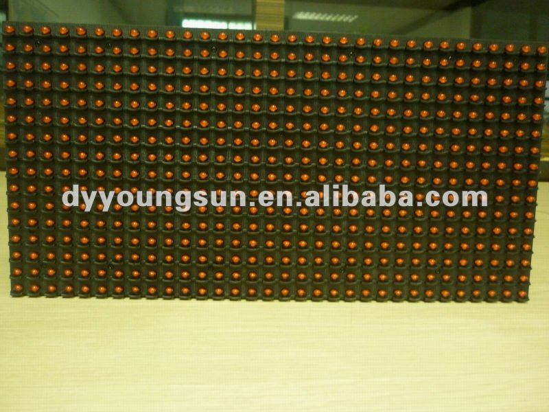 new inventions in 2012 outdoor P10 single/green color led module for scrolling message display
