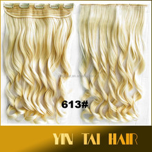 Fashion Long Straight Blond Synthetic Hair Pieces Ombre Style Hairpieces For Black Women