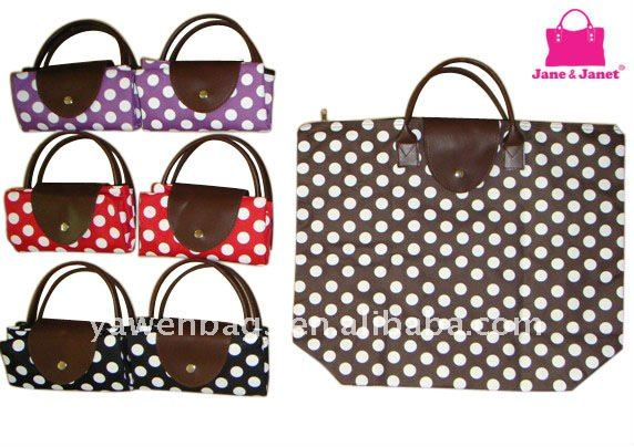 2011 top sale foldable polyester shopping bag