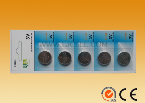 CR2032 3v button cell battery pack cr2032 5pcs /card or 10pcs per card