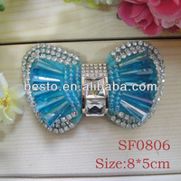 SF0806 ladies blue removable glass rhinestone butterfly wedding shoe clips for wedding shoes