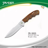 Promotion outdoor wooden fix blade hunting knife premium folding knives
