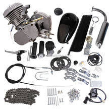 Two stoke 80cc 60cc 50cc 48cc black silver air cooling kick start engine kit for gasoline motorized bike