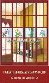high quality thermal breal simple sliding bedroom door designs