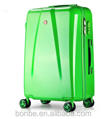 Best selling Women and Men Bright Color Trolley Handle PC Travel luggage