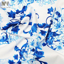 Nanyee Textile Wholesale Oriental Porcelain Pattern Blue And White Printed Fabrics