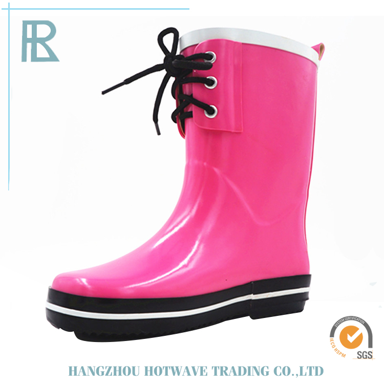 Wholesale Promotional Prices Pink Kids Rain Boots