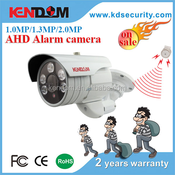 Kendom security alarm system AHD cctv camera with polis siren function hot selling products in 2016