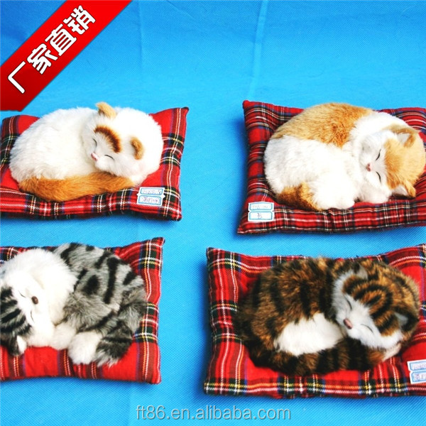 breathing cat handmade furry cats animals factory directly imitation cat