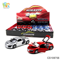 Hot selling diecast cars with 4 open door and 3 sound with 4 lights