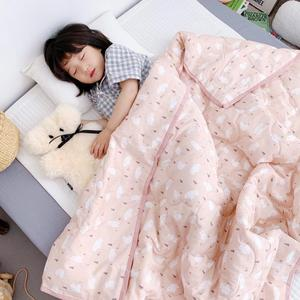 2019 new cotton baby child summer organic cotton baby quilt white bear baby quilt