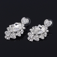 New arrival design crystal ball white crystal drop earrings for sale