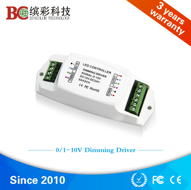Constant voltage 12V 100W 200W 3 channel led dimming driver, 24V 360W 5A 0-10V led strip rgb driver