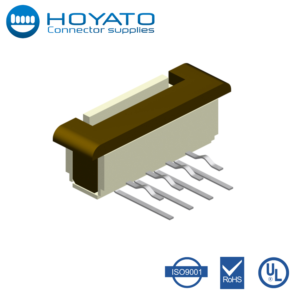 0.5mm 0.8mm 1.0mm 1.25mm Pitch ZIF Lcd Flex FPC Connector Panel Display Connector FPC Connector