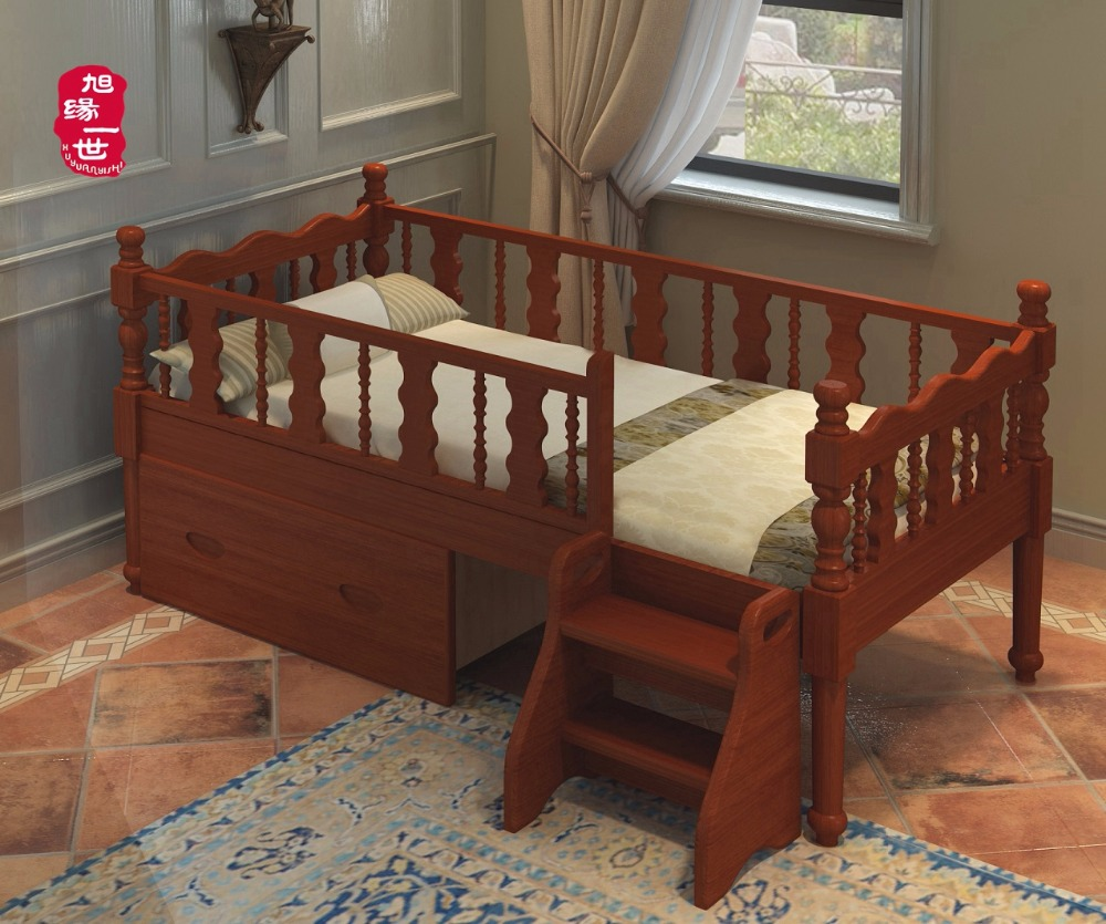 latest design solid wood kid bedroom furniture baby pine wood toddler bed