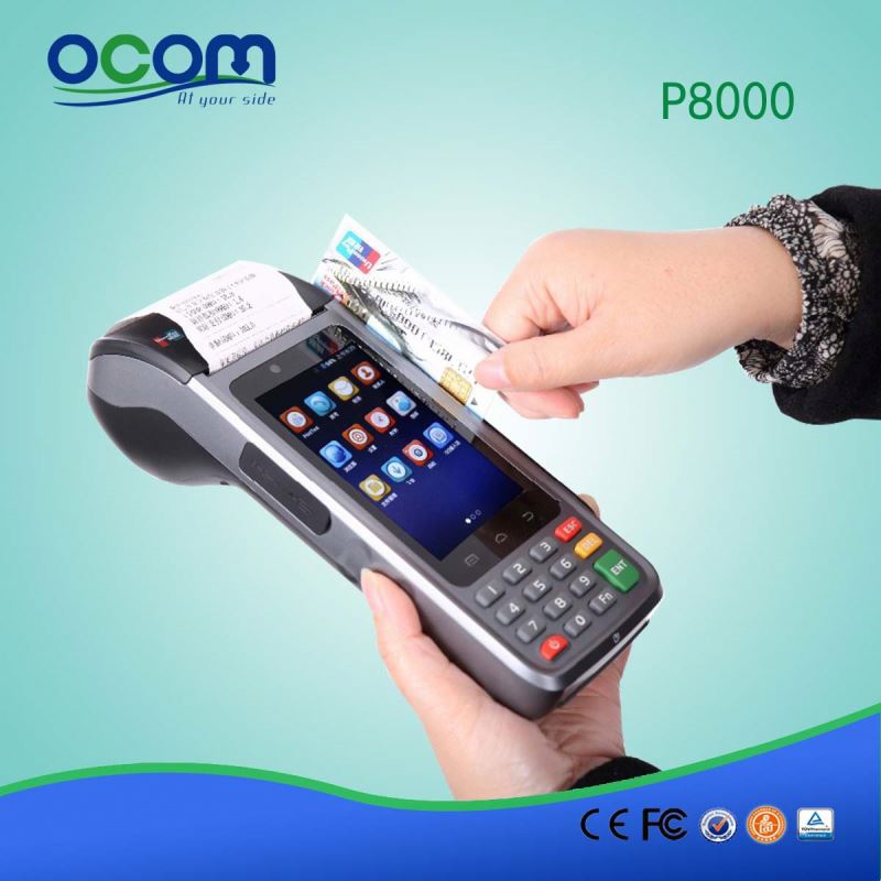 2016 4' portable android mobile pos terminal with model number P8000