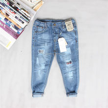 AZ57 In the spring of 2016 new hole patch personality small boys wear jeans