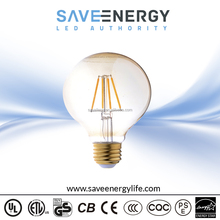 White Golden Glass Cover UL Listed LED Bulb Led Filament Bulb 4.5W clear glass led bulb