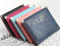 Korean style new arrival fashion square mini women wallet candy color cheap high quality pu leather vintage ladies wallets