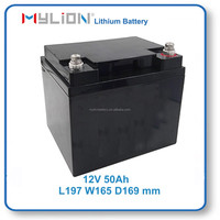 Mylion LiFe PO4 26650 Rechargeable Battery Pack for UPS Storage 12V50Ah