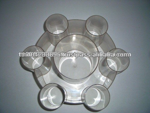 High Quality Vodka Plastic Serving Tray for Sale