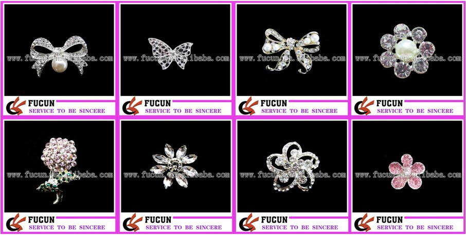 Customized Beautiful Crystal Bride Brooch Words Pins Decorative Brooch For Wedding Accessories