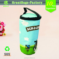 Real factory Supply custom baby bottle round coolers bag promotional