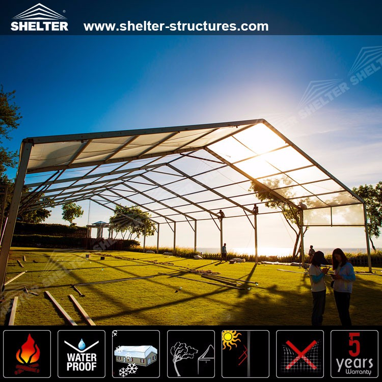 Permanent Outdoor Structure Shelter : M customized permanent clear span patio tents for