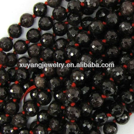 12mm Round Faceted Garnet Beads
