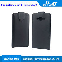 Black inside PU leather ultrathin up down open leathre flip case for samsung galaxy Grand Prime G530