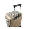 Hot Sale Custom Made ABS Zipper Closure Luggage Trolley With Brake Wheels