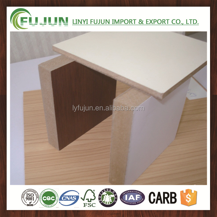 fire rated mdf board / 25mm thick mdf panel / melamine mdf sheet