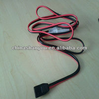 Parallel Red And Black Power Cable For Radio