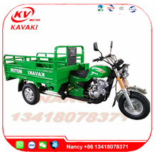 Three wheeled motor car green 1.2m * 1.8m mini truck 150cc cargo motor triporteur