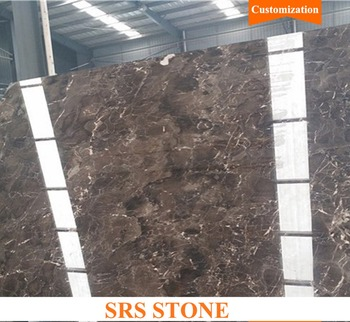Low price marble Brown marble tile for floor China dark emperador