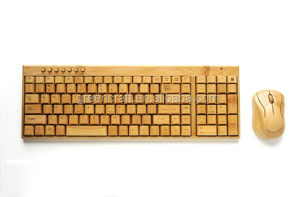 Popular Wholesale Handmade Wood Keyboard And Mouse