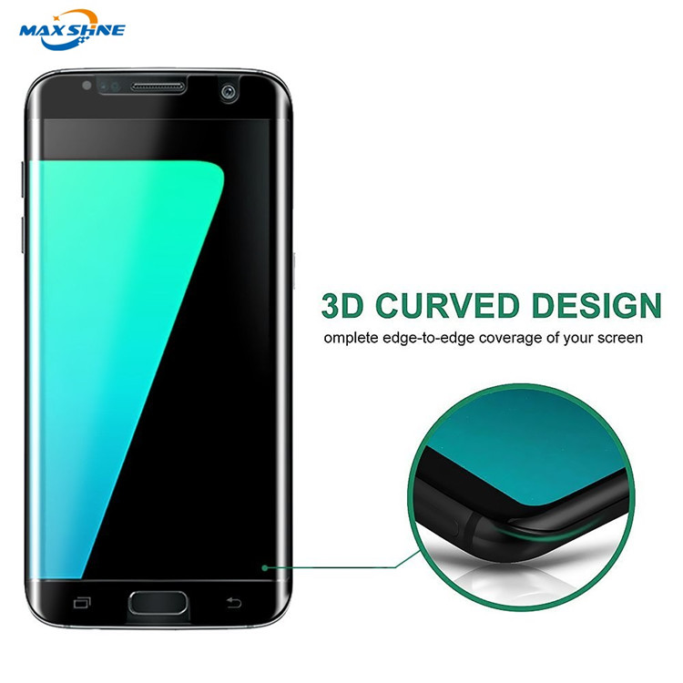 New product for Samsung S6 S7 edge S8 3D curved full cover friendly clear tempered glass screen protector for Samsung s7 edge