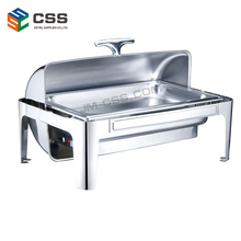 YD-723DR-2-C Oblong Roll Top Electric Water Pans Chafing Dish