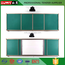 Hot sale factory children sliding glass white notice board