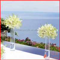 clear acrylic plastic centerpiece vases